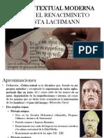 Crítica Textual Moderna