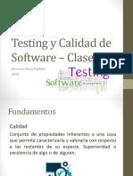 Testing y Calidad de Software 2019 Clase 4