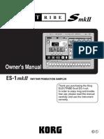 Manual Korg electrones smk II