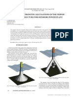 [20837429 - Polish Maritime Research] Design and Strength Calculations of the Tripod Support Structure for Offshore Power Plant