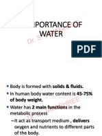 Role and Properties of Water