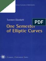 One Semester of Elliptic Curves - Ekedahl