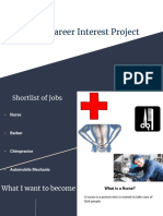 personal career interest project