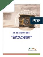 LB-SS-SSS-SLB-0010 - Estandar Para Trabajos Con Llama Abierta
