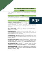 Procedimiento de Recibo y Despacho de Documentos