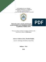 Relación entre estado nutricional y nivel socioeconómico de estudiantes del colegio Las Capullanas Sullana 2017