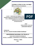 Incidencia de Las Niif en La Elaboración y Presentación de La Información Financiera, En Las Empresas Comerciales de Lima Metropolitana