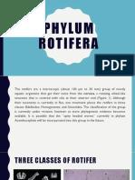 Phylum Rotifera Presentation