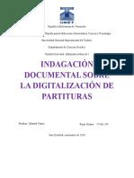 Indagación Documental Sobre La Digitalización de Partituras