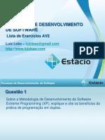 Lista Exercicios PDS AV2 2015.2