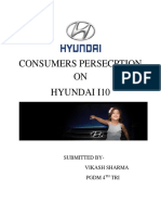 Consumers Persecption on Hyundai
