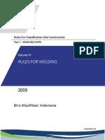 BKI Vol VI Rules for Welding (2019)