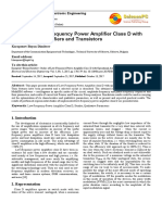 Studies of Low-Frequency Power Amplifier Class D With