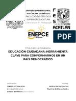 PONENCIA. EDUCACIÓN CIUDADANA