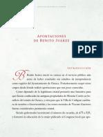 Aportaciones Benito Juarez