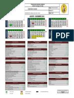 Calendario Agosto - Diciembre 2019
