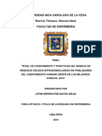 TESIS-NIVEL DE CONOCIMIENTO Y PRACTICAS DE MANEJO DE RESIDUOS SOLIDOS DE UN ASENTAMIENTO HUMANO.pdf