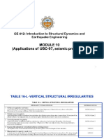 Application of UBC-97  code_ structural irregularities