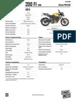 Pulsar Ns200 Fi 2018 Bajaj Pulsar Amarillo 01-02-2019