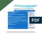 Fecha de Entrega de Documentos Del Módulo de Granos Básicos 2019