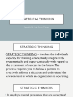 Strategical Thinking
