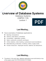 Lecture 1 Overview of Database Systems