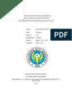 Laporan Praktikum Evaluasi Tekstil i