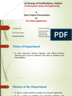 Minor project presentation