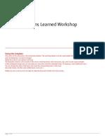 LL Workshop Guidance