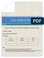 Tariffied Case Analysis