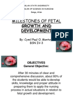 Milestones of Fetal Development