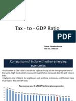 Natasha Juneja Tax to GDP