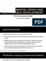 11 Environmental Crisis and Sustainable Development