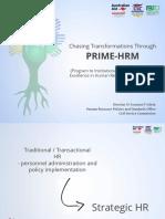 Chasing Transformations Through PRIME-HRM-Director Azucena Esleta