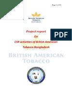 CSR Activities of British American Tobacco Bangladesh ( for Hasib)