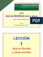 Curso de Moodle 2012. Lección 1