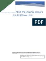 Proiect de Grup Psihologia Muncii Şi a Personalului (1)