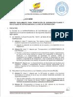 Sie 030 2015 Memi Emision Regl Tramite Aprobacion Planos y Solicitudes Interconexion