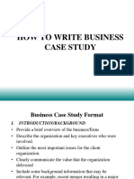 Business Case Study Format