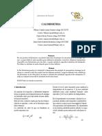 Lab 3 Calorimetria Para Presentar