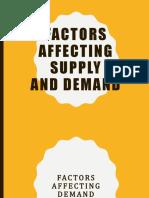 ECON factors affecting Supply & Demand