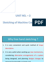 2. Sketching of Machine Components