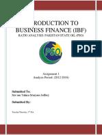 Sample IBF Report