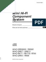 Sony Mhc Grx7 Manual de Usuario