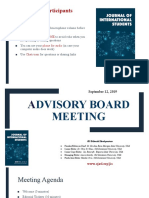 JIS Advisory Board Meeting- Sept 12, 2019