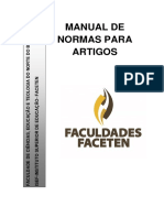 Manual de Normas Para o Artigo Faceten