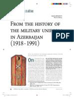 Military Uniform of Azerbaijan 1918-91