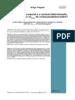 Composicao Corporal e a Variavel Determinante Na Relacao Com o VO2 Maximo de Criancas e Adolescentes