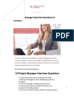 18 Project Manager Interview Questions & Answers (1)