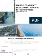 Issues in Community Development Planning in the Philippines